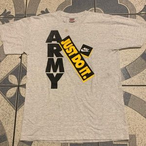 Vintage Nike Gray Tag Army Single-Stitched Tee M